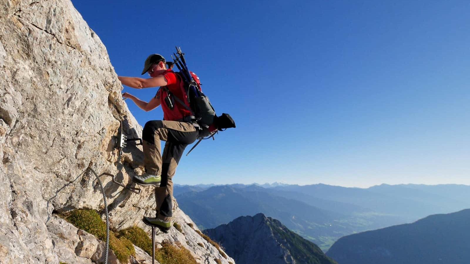 Klettersteig Achensee : Klettersteige im karwendel startpunkt achensee